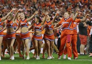Cheerleaders, something we don't see on our sideline anymore.