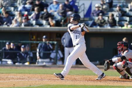 3rd Baseman Calvin Orth takes a swing