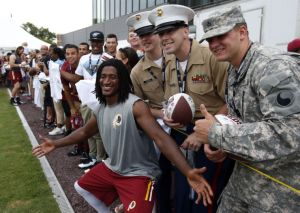 Andre Roberts hangs out on Military Appreciation Day at Redskins Camp