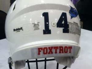 This year helmets will carry a player's Company.