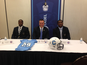 L-R = Aaron Miller, Coach Houston & Carl Robinson