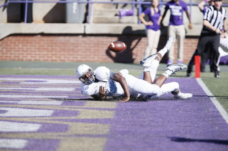 Isiaha Smith's fumble at WCU was just one dagger that killed a possible win.   Photo by Russ Pace, The Citadel