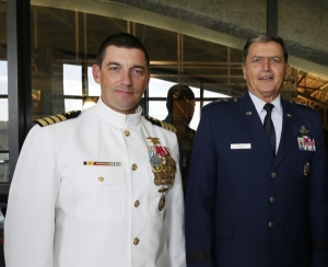 Captain Paluso (L), and Lt. Gen. John Rosa (R) (Photo courtesy: The Citadel)