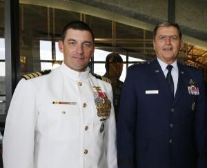 Captain Paluso (L), and Lt. Gen. John Rosa (R) (Photo courtesy: The Citadel)